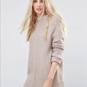 ASOS Oversized Pullover Sweater in Tan